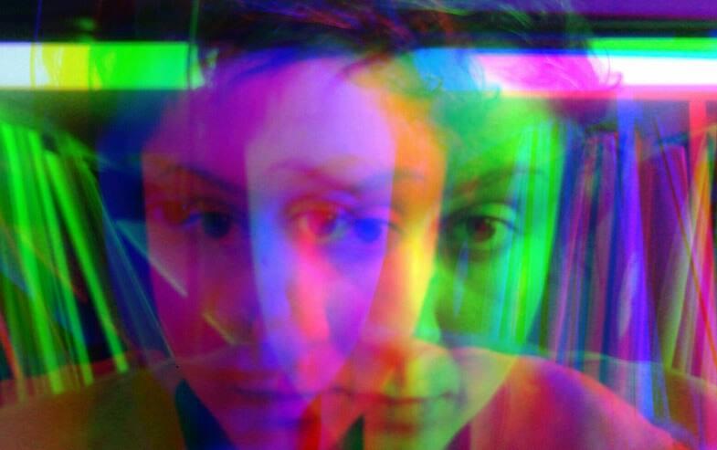Photo of Mioara with a kaleidoscope filter